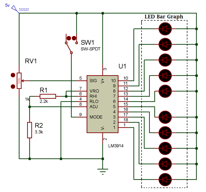 circuit using led bar graph edc bar graphs, circuit, ledcircuit using led bar graph