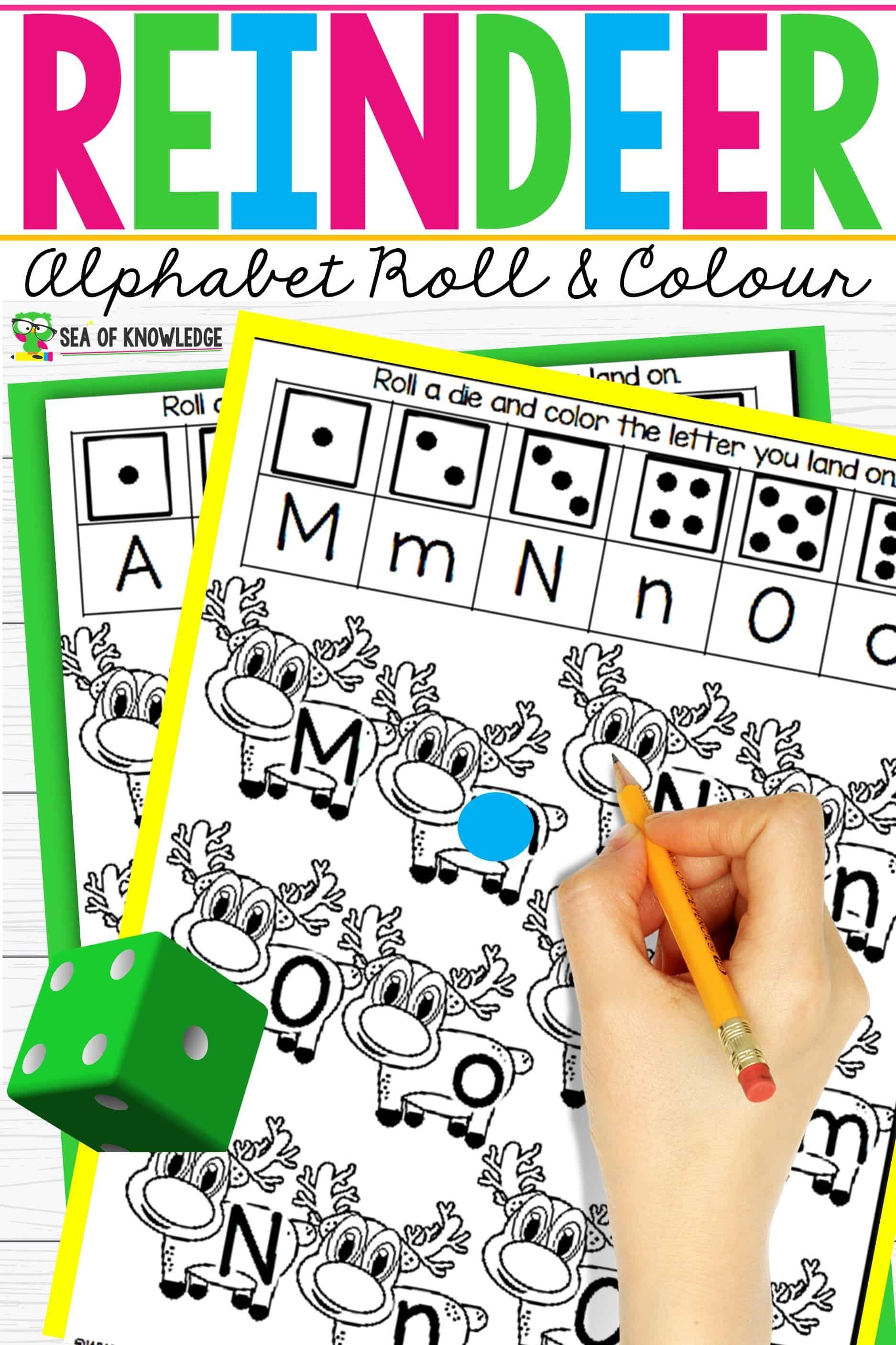 Reindeer Alphabet Recognition Activities