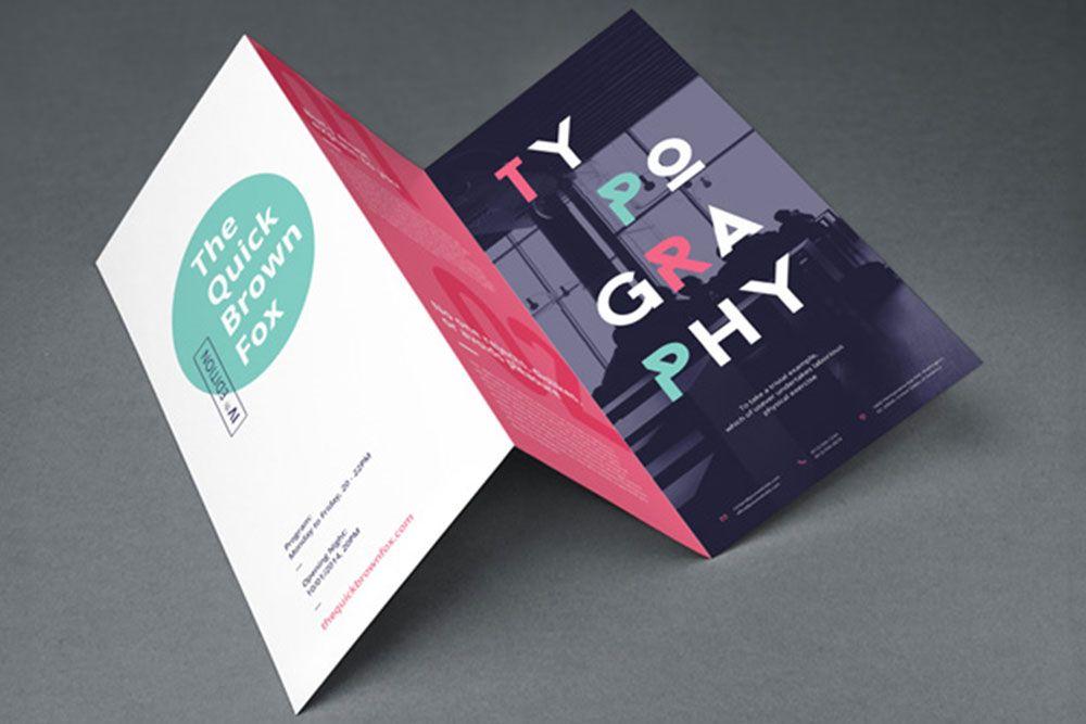 17 Trifold Brochure Mockups For Graphic Design 2019