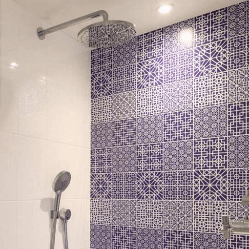 Victorian Blue Tile Panels | Acrylic wall panels, Blue ...