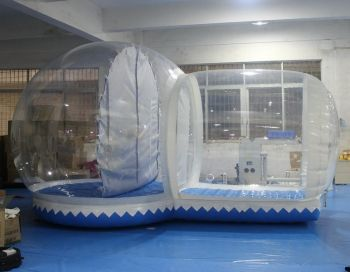 The Inflatable Snow Globe Very Cool It Has A Chamber So Snow