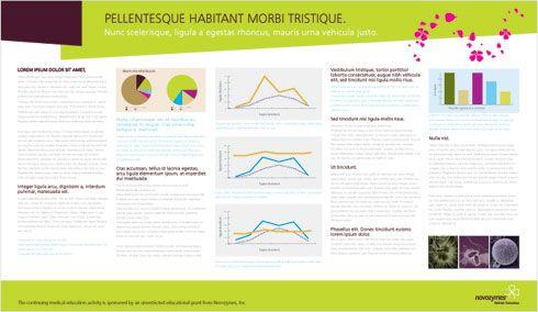 clean modern looking scientific poster