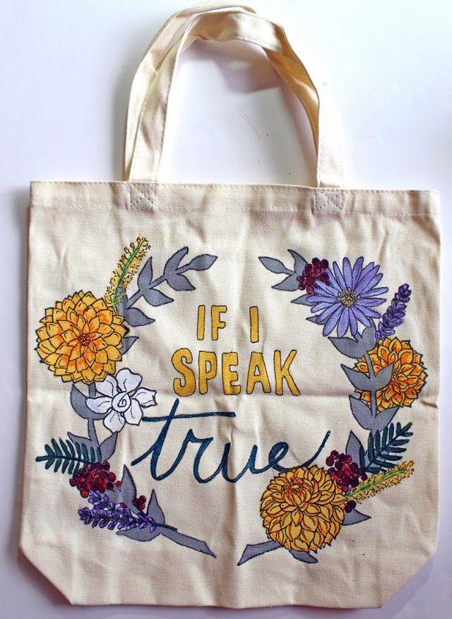 punk projects: Custom If I Speak True Book Bags