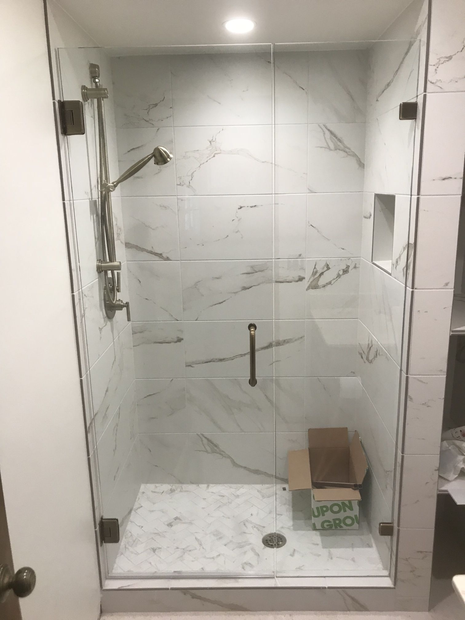Dallas Bath Glass Frameless Door And Panel 3 8 Heavy Glass