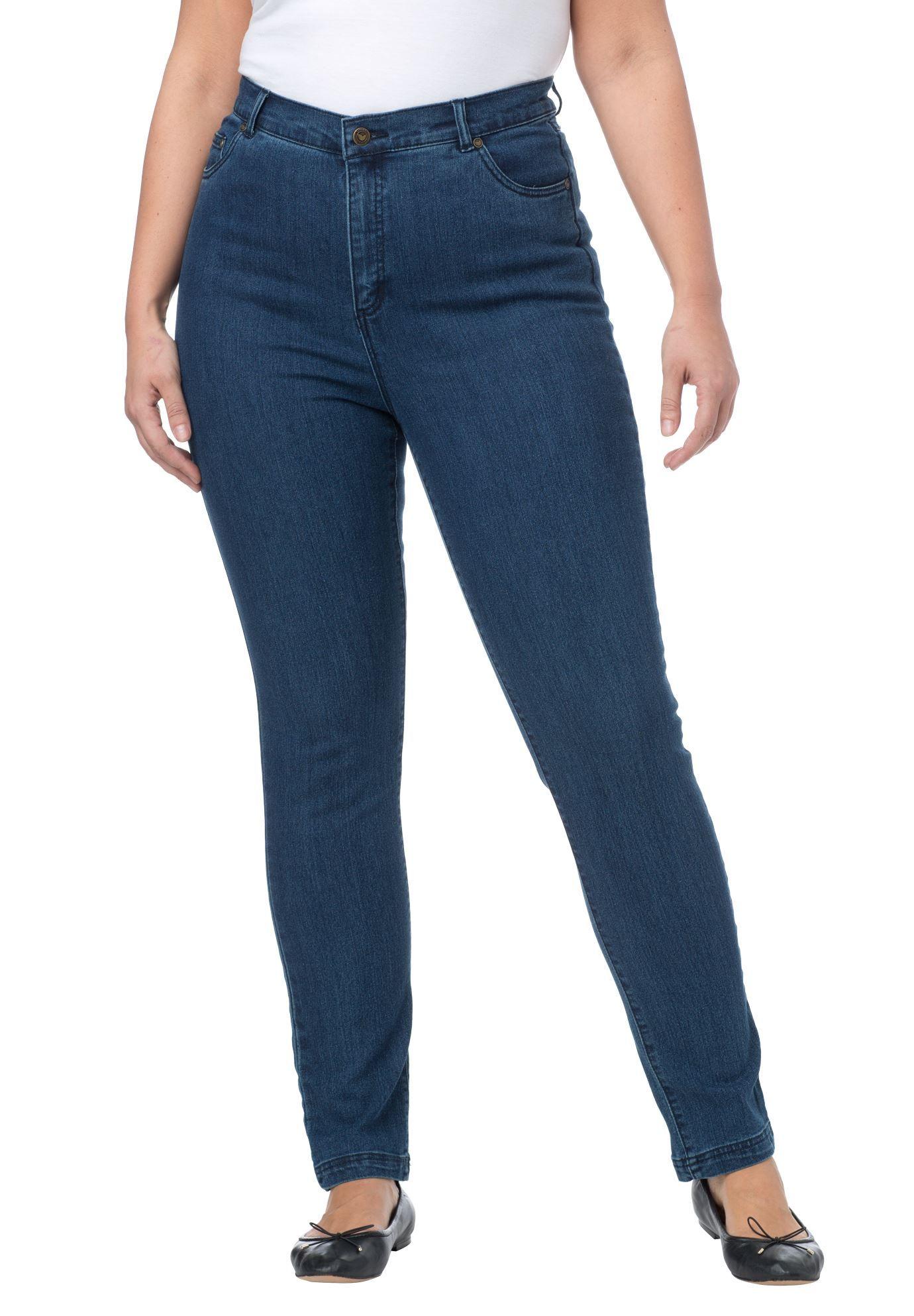 Women's Plus Size Tummy Tamer the 5-pocket stretch skinny jeans ...