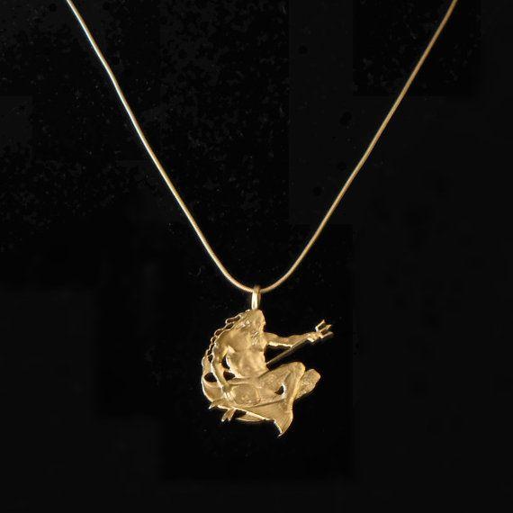 Neptune or poseidon pendant necklace barbados 10 dollar coin hand neptune or poseidon pendant necklace by kenfrankcollectibles aloadofball Choice Image