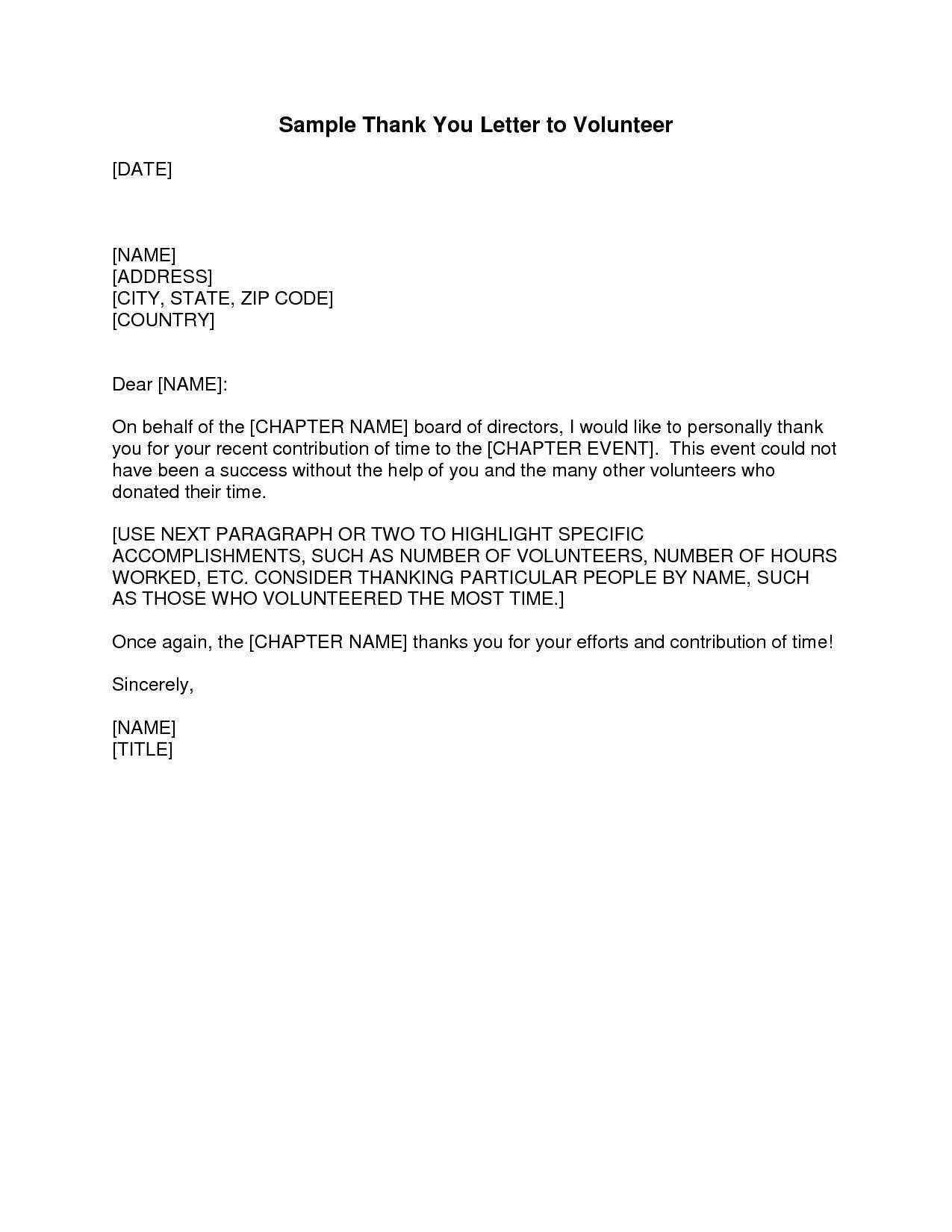 Volunteer Letter Of Appreciation Template from i.pinimg.com