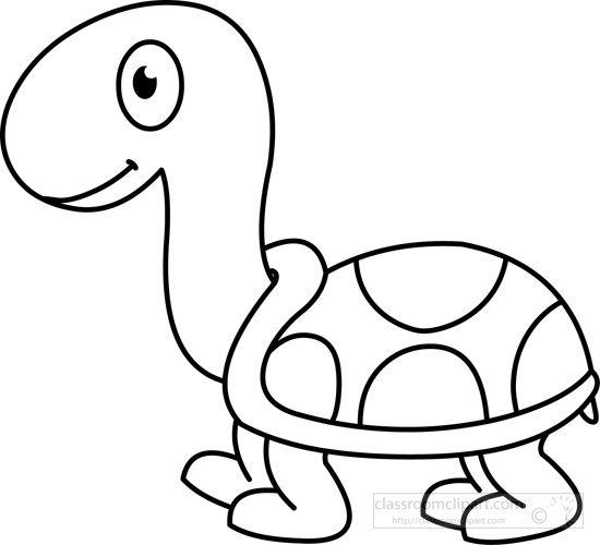 Animals Turtle Black White Outline Easy Drawings For Kids Easy Drawings Turtle Drawing