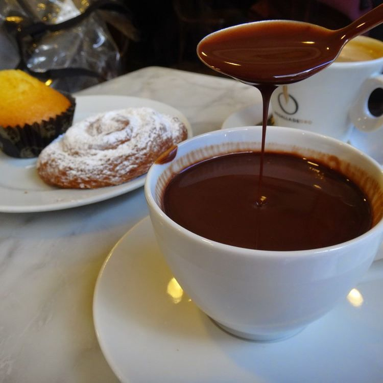 """""""Now THIS is a hot chocolate #barcelona #chocolate #food #spain"""""""