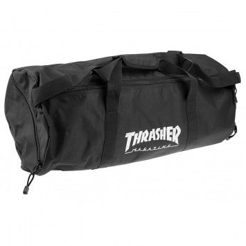 Thrasher Logo Barrel Bag in Black
