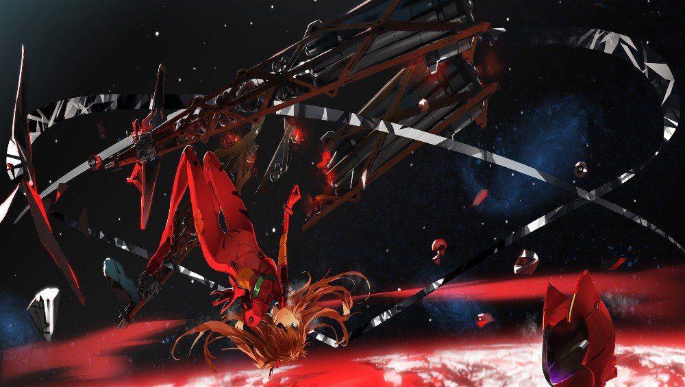 Cyberpunk Art Graphic Evangelion Asuka Asukalangley Langley Eva