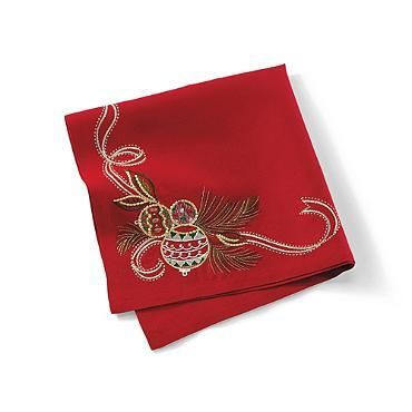 KIM SEYBERT Deck The Halls Linen Napkin Set Of 4 $130 BEST PRICE & SATISFACTION GUARANTEED! FREE WORLD SHIPPING ORDER PICK UP IS ALSO AVAILABLE *WE ARE AN AUTHORIZED KIM SEYBERT RETAILER*