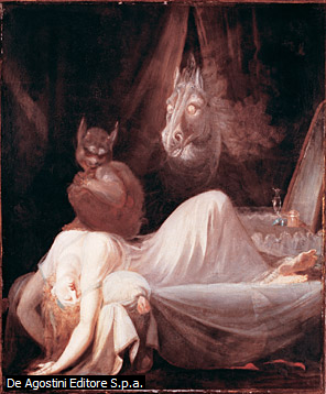 romanticismo/ esta pintura se muestra una mujer enamorada
