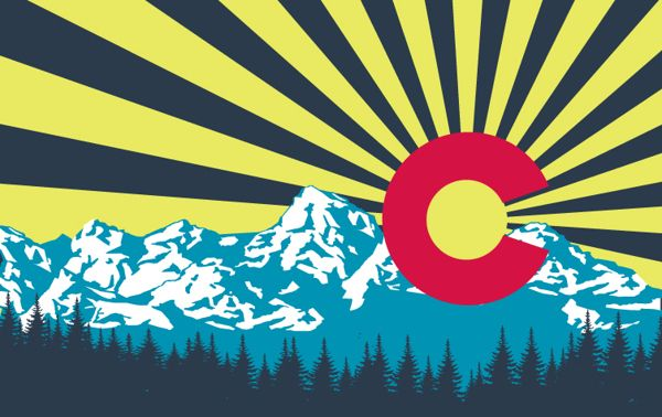 New colorado flag by angel pearson