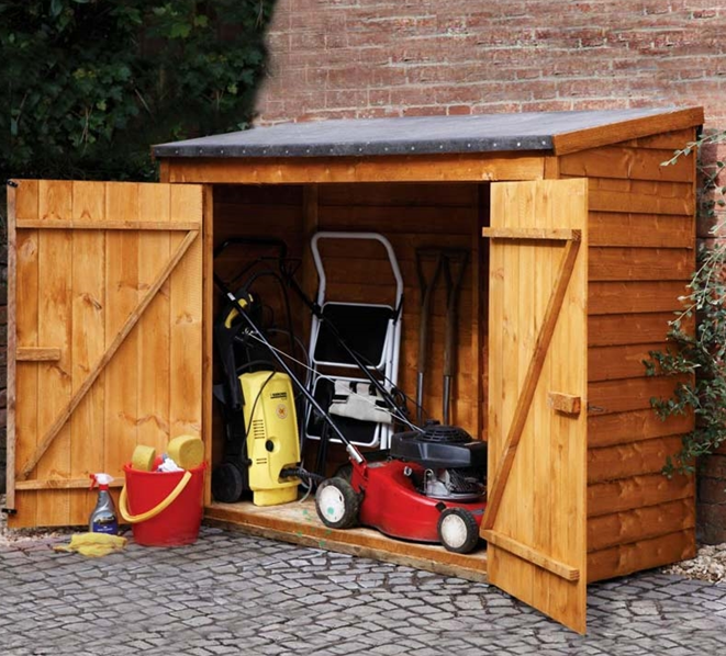 6 x 3 store plus overlap maxi wall storage shed 181x0
