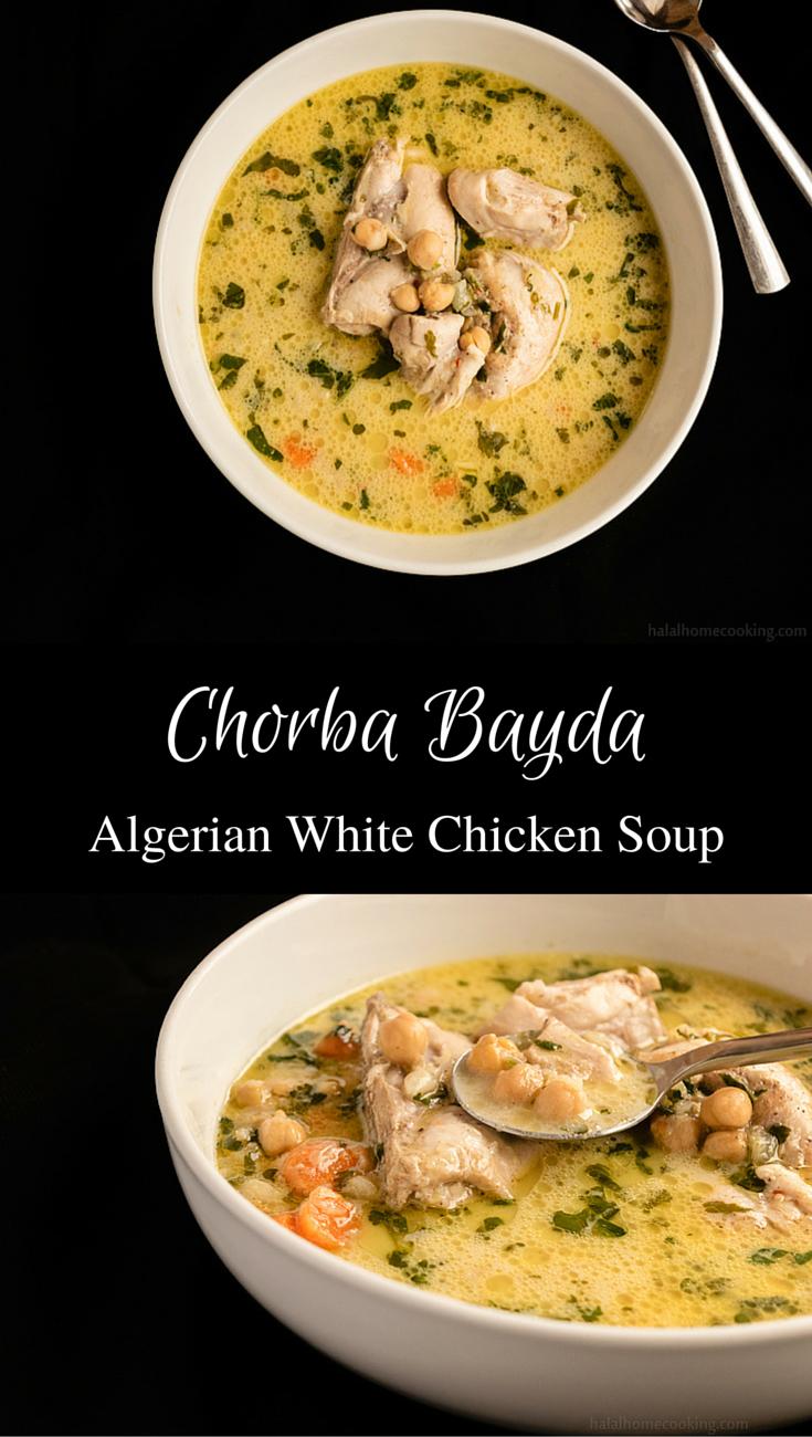Chorba bayda algerian white chicken soup recipe white arabic food forumfinder Image collections