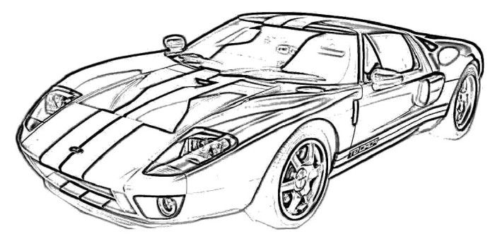 Ford Gt2005 Coloring Page Ford Car Coloring Pages Cars Coloring Pages Coloring Pages Color