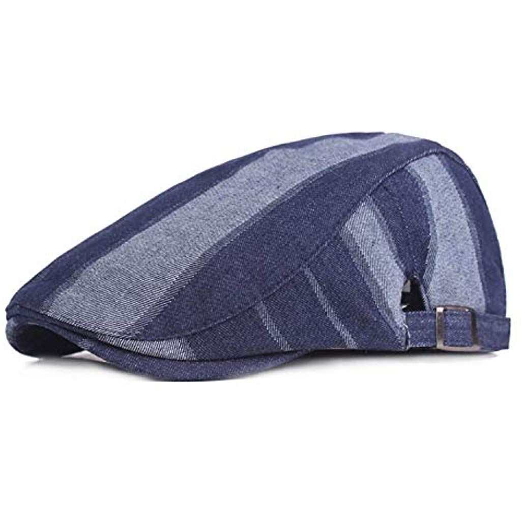 18448ecce6a Blue Denim Beret Hats for Men Outdoor Casual Berets Caps  berets   beretsdeutsch  bäretswil