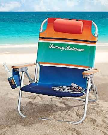 tommy bahama - stripe deluxe backpack beach chair | gifts for