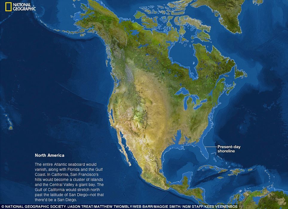 What would the world look like if all the ice melted earth polar if all the ice melted explore the worlds new coastlines if sea level rises 216 feet the maps here show the world as it is now with publicscrutiny Choice Image