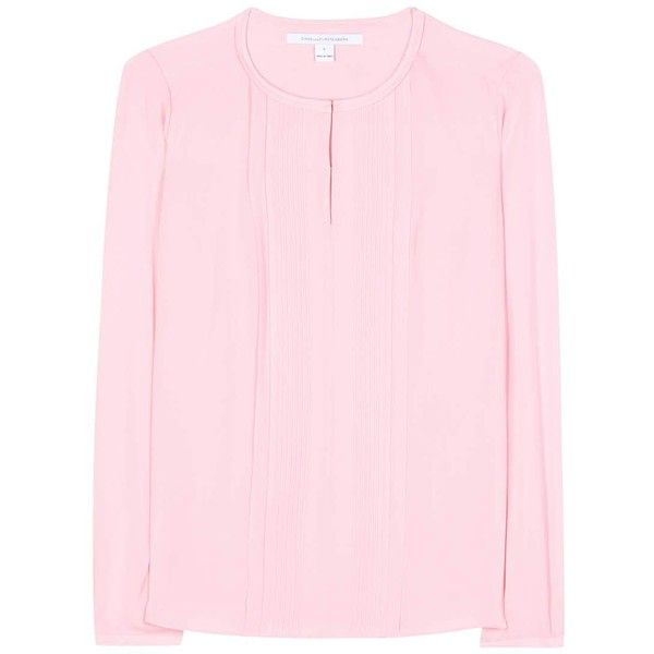 Diane von Furstenberg Meadow Silk Blouse found on Polyvore featuring tops,  blouses, shirts,
