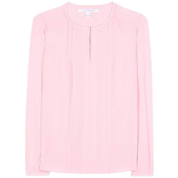 146301b30704 Diane von Furstenberg Meadow Silk Blouse found on Polyvore featuring tops
