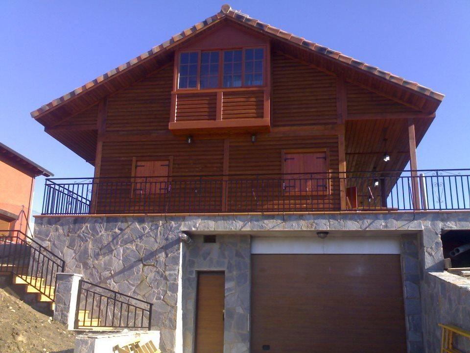 Casas #Rustico #Exterior #Escalera #Terraza #Puertas #Fachada - terrazas en madera