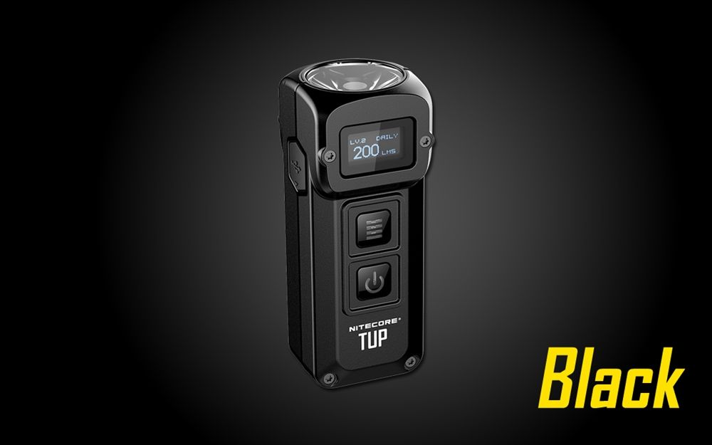 NITECORE TUP 1000lm Rechargeable Everyday Carry Keychain Flashlight Black//Grey