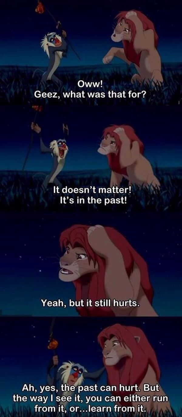 One of the best lessons I learned from the lion king!