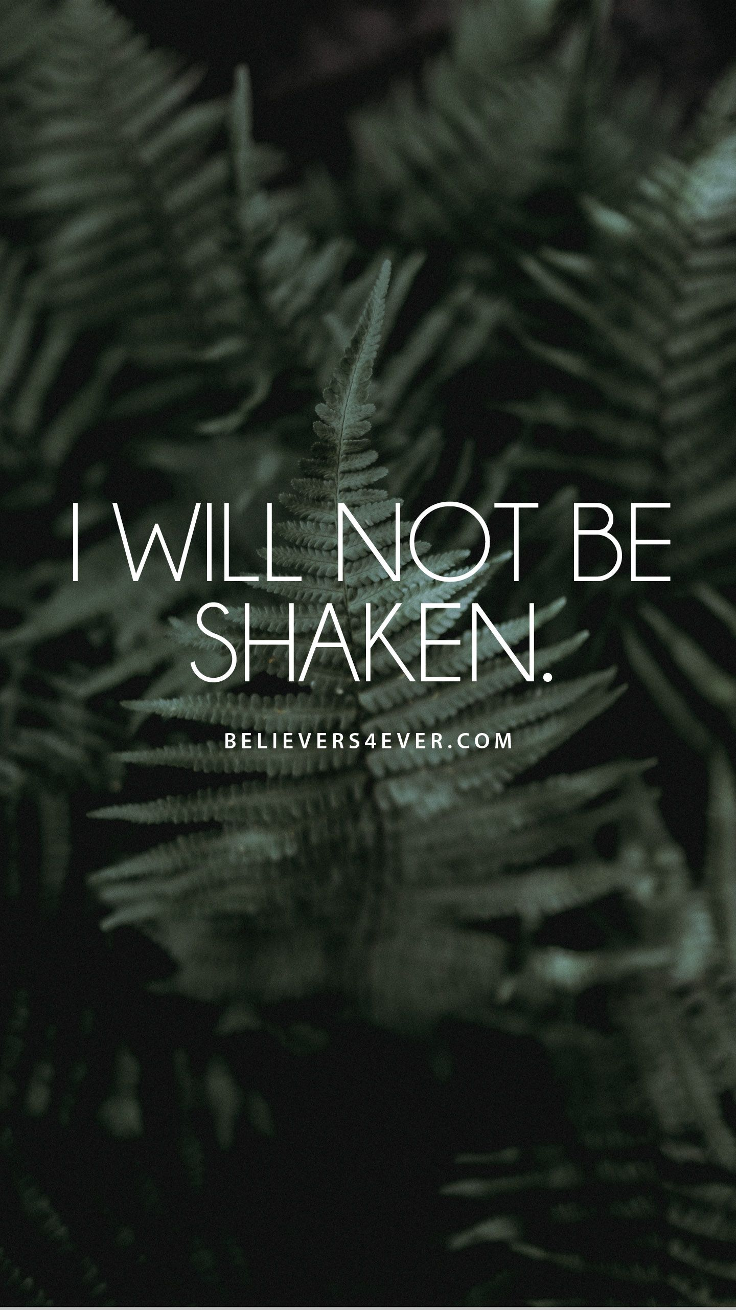 I will not be shaken Phone wallpaper bible, Christian