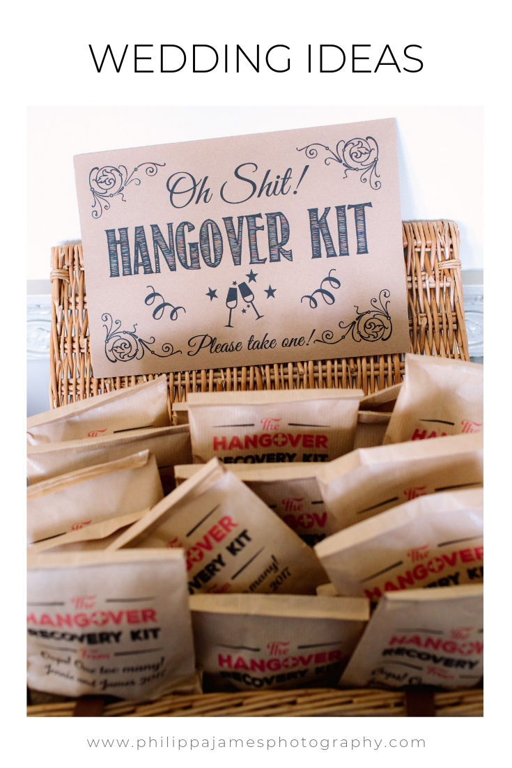Such a great idea for wedding favours on your wedding day.  Hangover kits given out to guests at the end of the night... image by Philippa James Photography #weddingideas