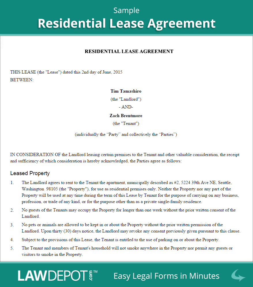 Renting out property? Put your lease terms in writing with a ...