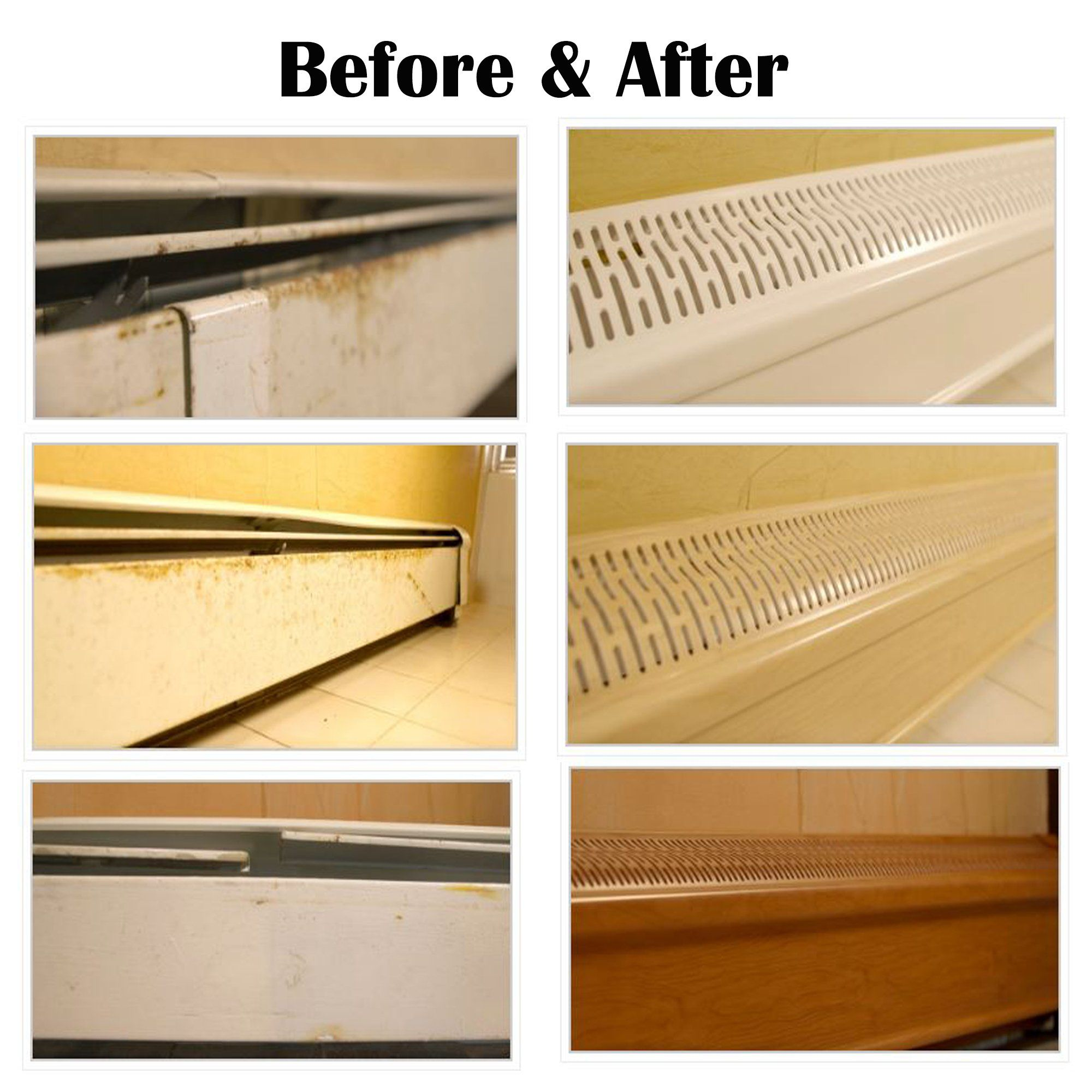 Baseboard Heater Cover Complete Set Includes Right And Left End Caps Hot Water Hydronic Heater Slant Baseboard Heating Baseboard Heater Covers Baseboard Heater