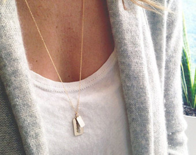 Photo of a simple, dainty jewelry line handmade in New York City by lolabeanjewelry