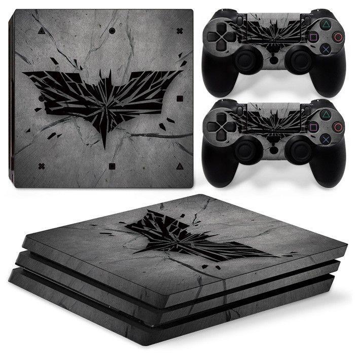 PS4 Pro Console Skin - Batman Logo