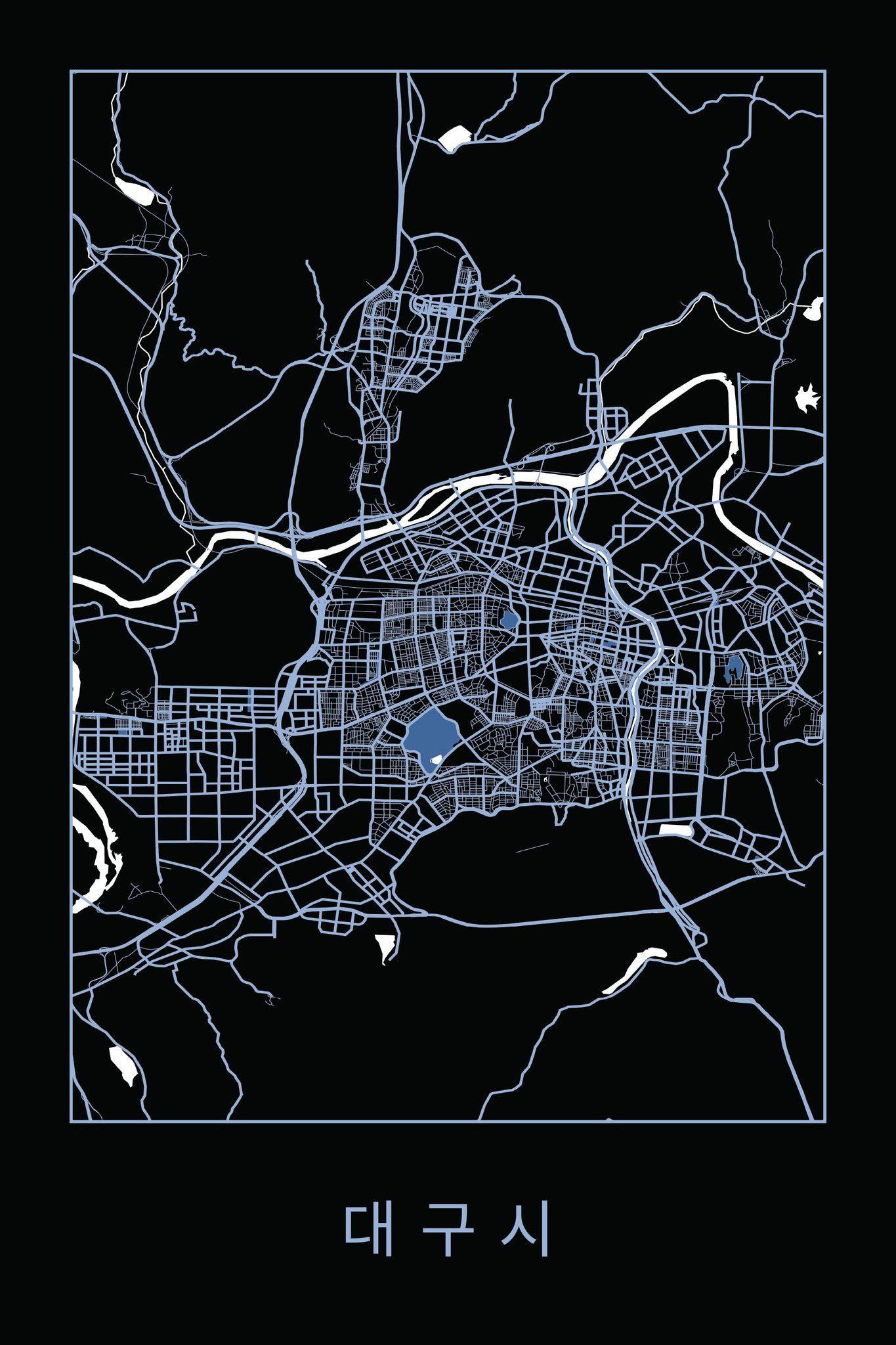 Daegu, South Korea by raenordic.com #map #southkorea #daegu