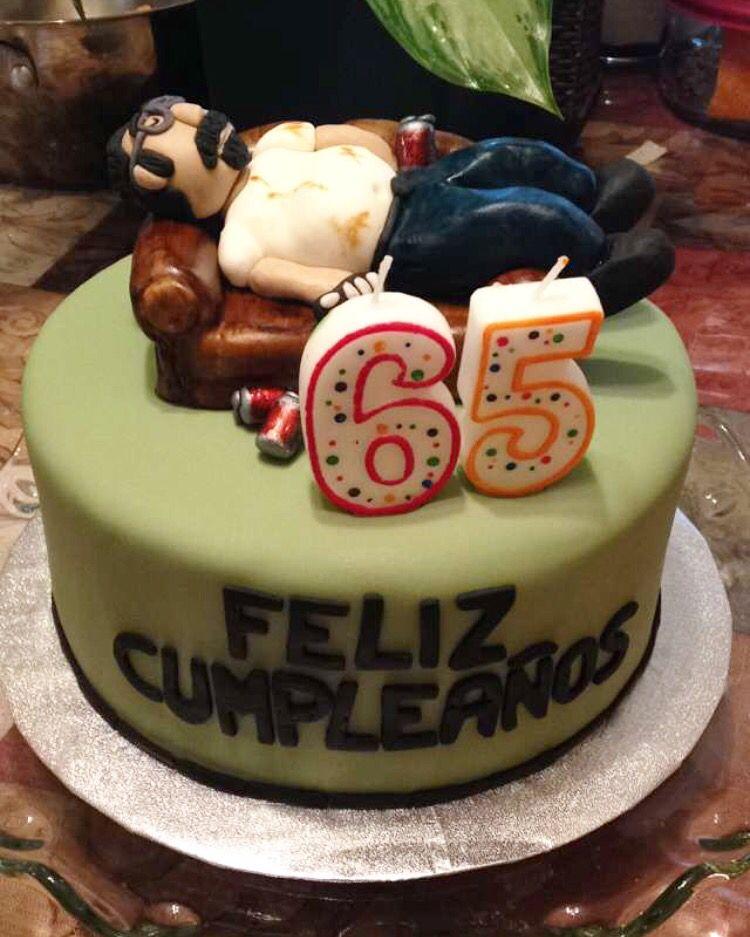 Dads birthday cake couch potato Cakes Dad birthday