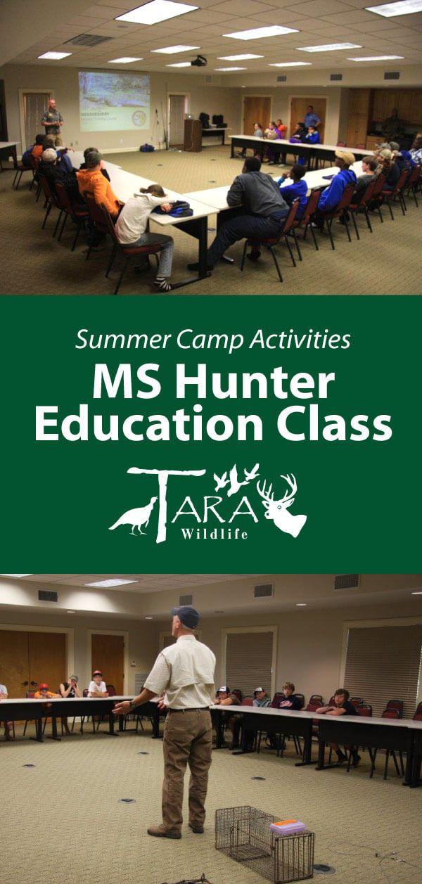 Mississippi Hunter Ed Class at Tara Wildlife Summer Camp