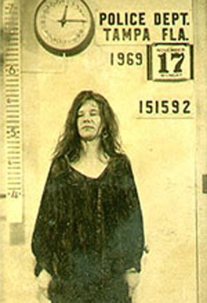 Less than a year before her untimely death, Janis Joplin was arrested in Tampa, Fla. on Nov. 17, 1969 for disorderly conduct as a result of her behavior at a concert the evening before.