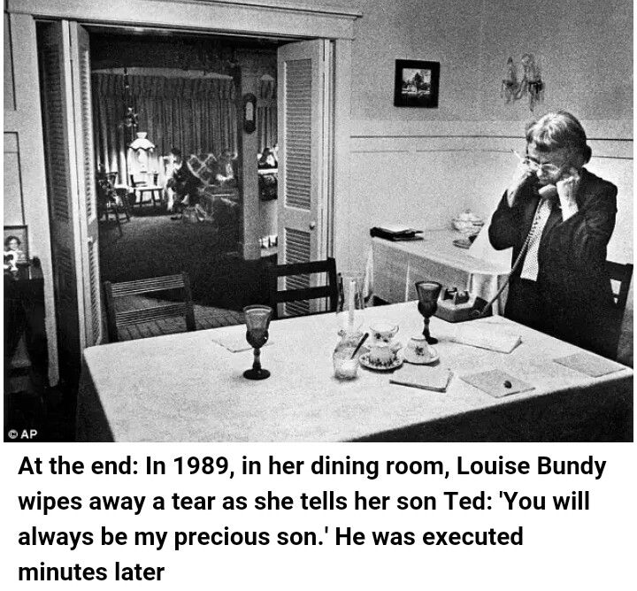 Louise Bundy: Minutes before her serial killer son Ted Bundy was executed.