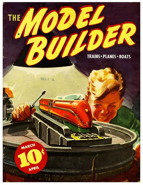 The Model Builder from the Lionel Corp., March April 1937,