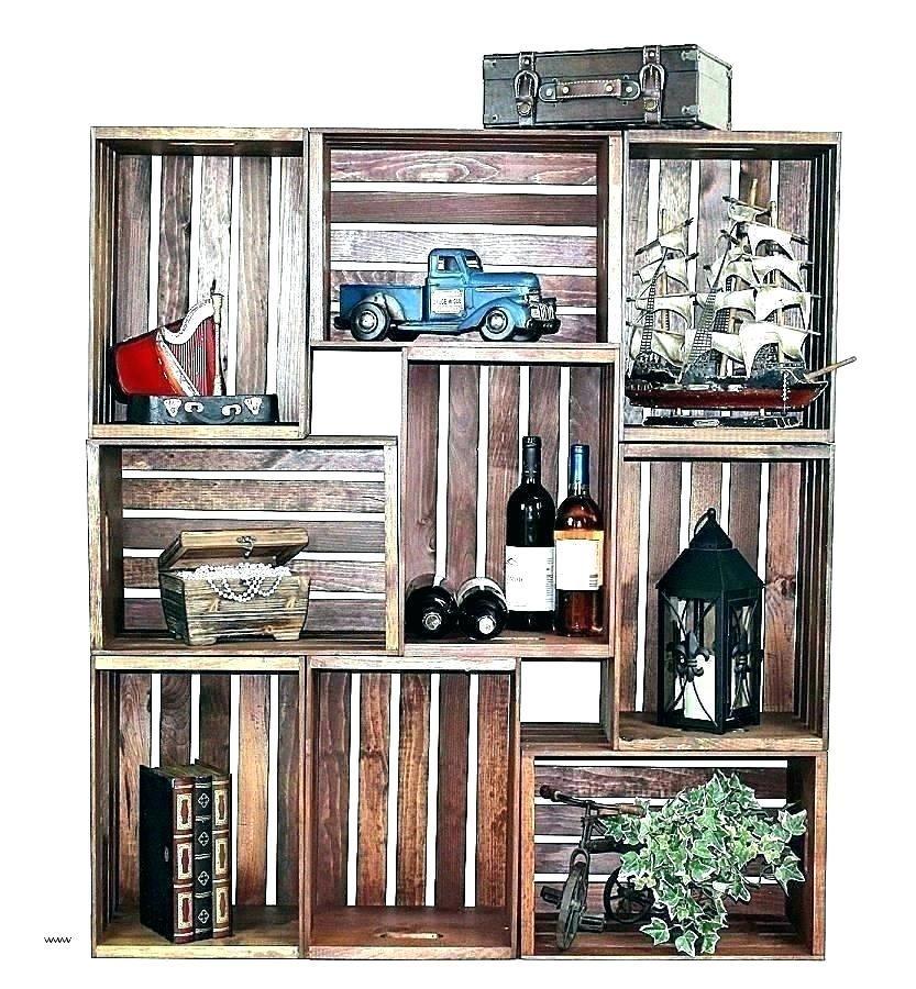 Wooden Crate Wall Shelves Yourstartonline Wooden Crates Shelves