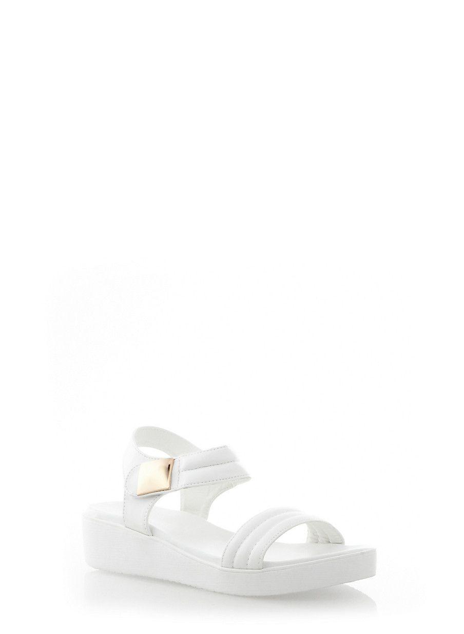 7ea5a6ae7b78f Rainbow Shops White Ankle Strap Platform Sandals  19.99