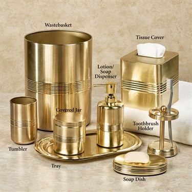 Jewel Brushed Gold Metal Bath Accessories Gold Bathroom Accessories Silver Bathroom Accessories Gold Bathroom