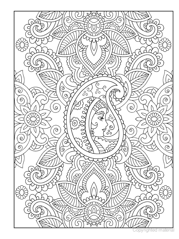 creative haven mehndi designs coloring book traditional henna body art - Mehndi Patterns Colouring Sheets