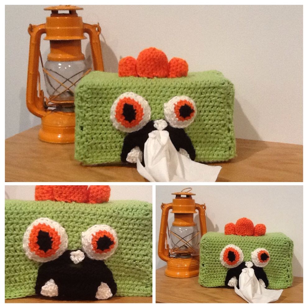 Monster tissue box cover | Crochet-Bathroom items | Pinterest