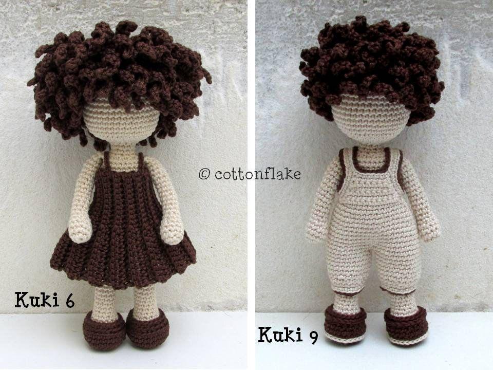 Pattern Kuki 6 9 Seamless Little Girl And Boy Doll Amigurumi