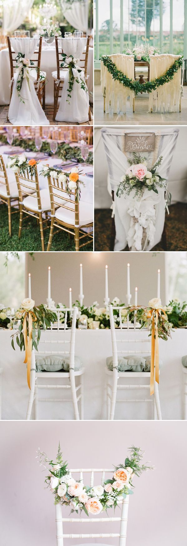 30 Creative Chair Decor Ideas for Spring Weddings