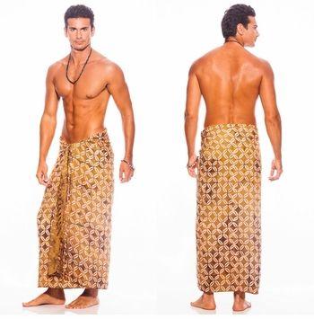 Traditional Batik Design Top Quality Mens Sarong in Brown