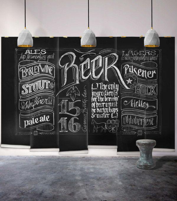 Blackboard Wallpaper Murals Food Wallpaper Murals Bistro: Cool Graphic Wallpaper By Milton & King